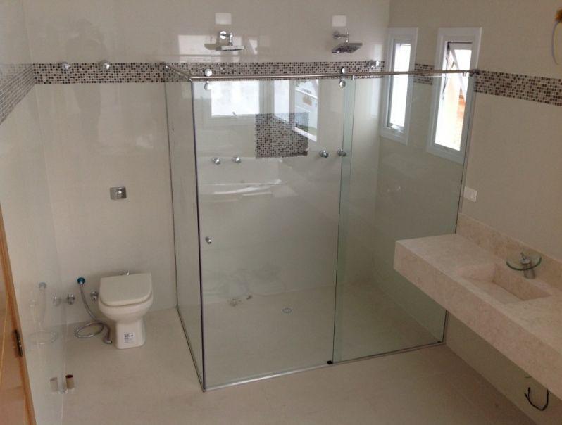 Box de Vidro para Banheiro Pequeno em Santos - Box em Aço Inox