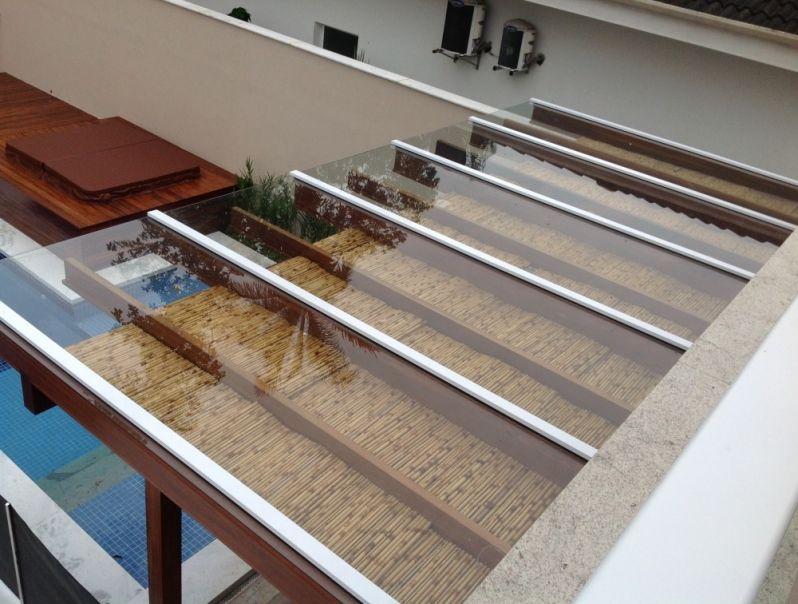 Cobertura de Pergolado em Vidro Garagem ARUJÁ - Coberturas em Vidro para Pergolados