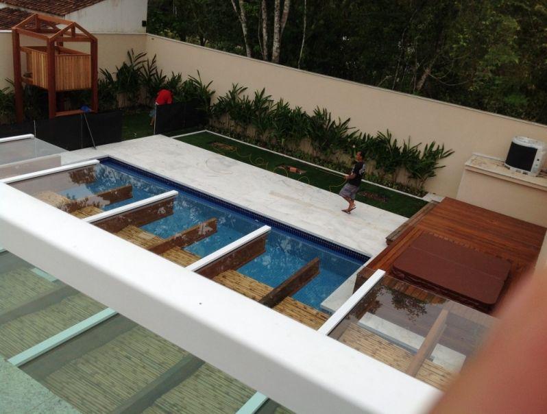 Conhecido Cobertura de Pergolado no Guarujá - Alfa Corrimão e Vidros OY54