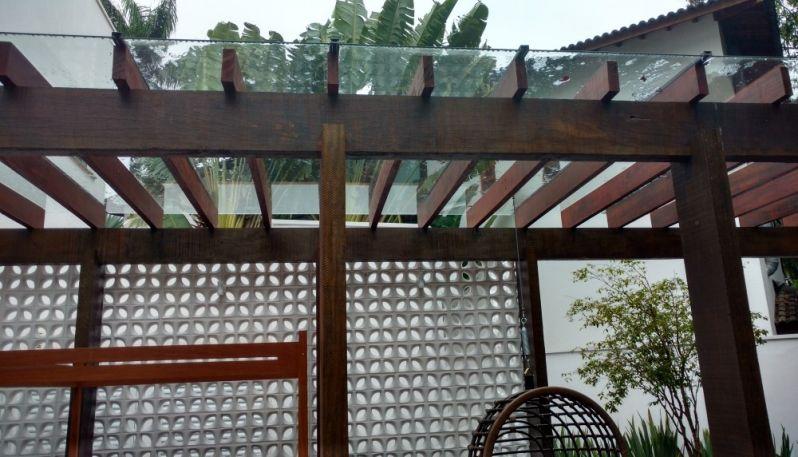 Coberturas de Pergolado em Vidro Preço em Santana de Parnaíba - Coberturas de Vidro para Pergolados de Madeira