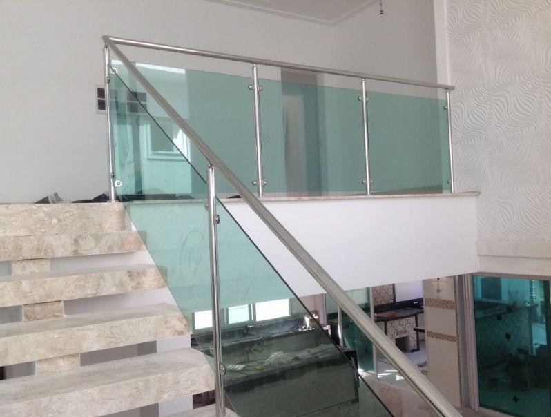 Corrimão de Vidro Laminado em Vargem Grande Paulista - Corrimão para Escada