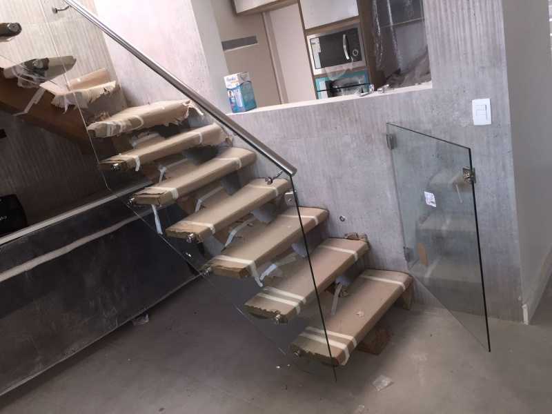 Corrimão de Vidro na Liberdade - Corrimão para Escada