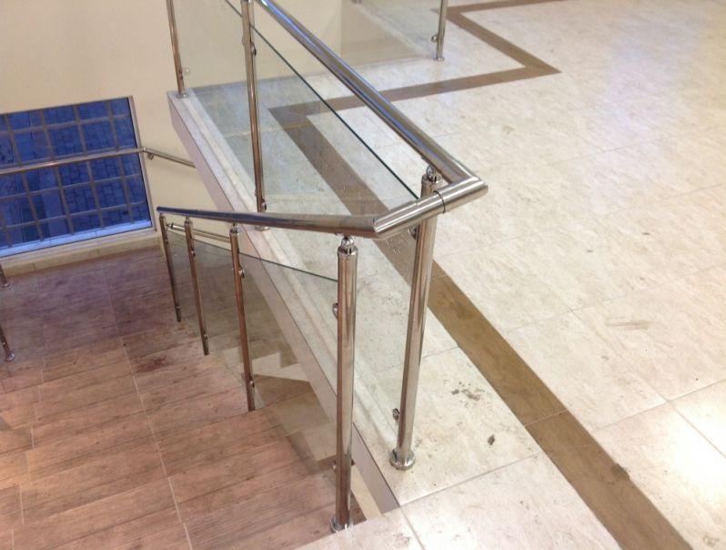 Corrimão Temperado Preço em Perdizes - Corrimão para Escada