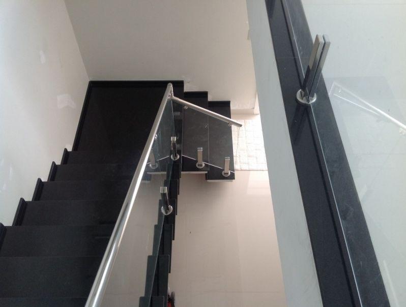 Fábrica de Corrimão de Vidro Fumê no Jabaquara - Corrimão para Escada