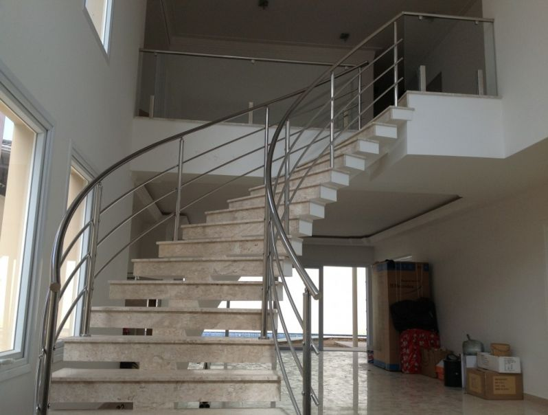 Fábrica de Corrimão de Vidro para Escada no Alto de Pinheiros - Corrimão para Escada