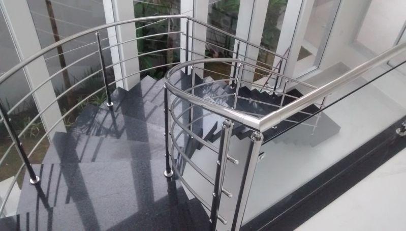 Fábrica de Guarda Corpo de Vidro para Prédio em Santos - Guarda Corpo em Vidro e Inox
