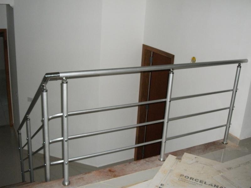 Onde Comprar Corrimão de Alumínio Anodizado no Alto de Pinheiros - Corrimão de Alumínio para Escada