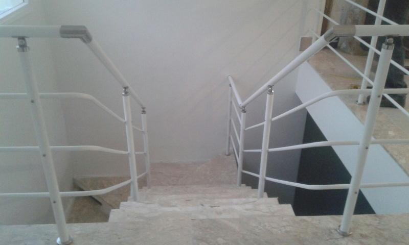 Onde Comprar Corrimão de Alumínio Branco em Guarulhos - Corrimão de Alumínio para Escada