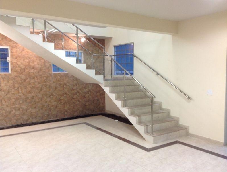 Quanto Custa Corrimão em Vidro e Inox em Interlagos - Corrimão para Escada