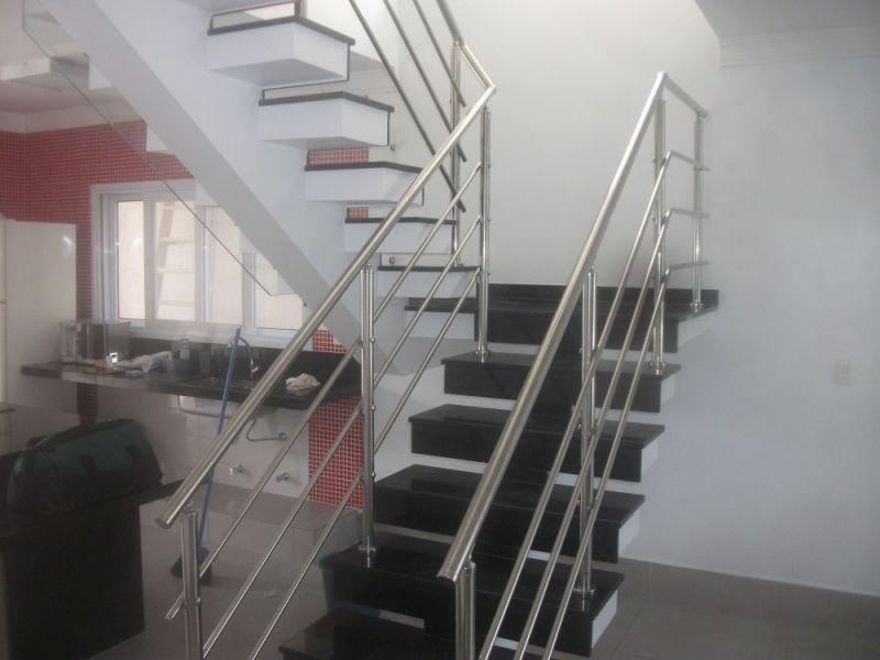 Quanto Custa Guarda Corpo de Escada no Guarujá - Guarda Corpo em Vidro e Inox