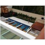 cobertura de pergolado com vidro coberto em Bertioga