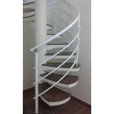 corrimão de alumínio para escada caracol preço em Barueri