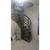 corrimão de alumínio para escada caracol na Vila Andrade