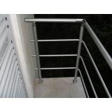corrimão de alumínio para escada externa preço em São Vicente