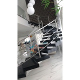 corrimão de inox para escada caracol no Jardim Paulistano