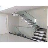 corrimão de vidro para escadas em Jandira