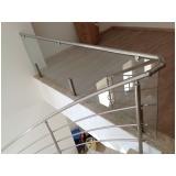 corrimões de aço inox para escadas no Campo Belo
