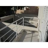 corrimão de alumínio para escada externa
