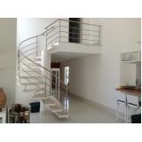 corrimões de inox para escadas caracol no Morumbi