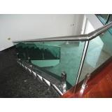 corrimão de aço inox para escada