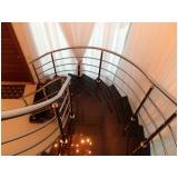 corrimão de inox para escada caracol