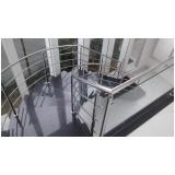 guarda corpos de inox para escadas em Itapevi
