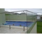 guarda corpos de inox para piscinas em Santo Amaro