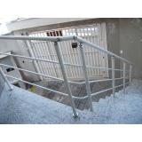 onde comprar corrimão de alumínio para escada externa no Brooklin