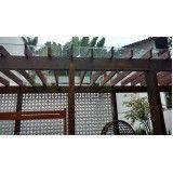 quanto custa coberturas de vidro para pergolados de madeira no Brooklin