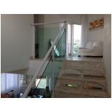 quanto custa corrimão de alumínio branco com vidro na Vila Andrade
